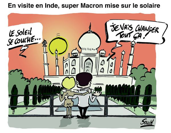 Le dessin de Souch : Macron Inde