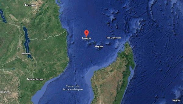 Carte situation Comores