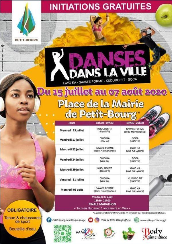 """""""Danse dans la ville"""" 2020 - le programme."""