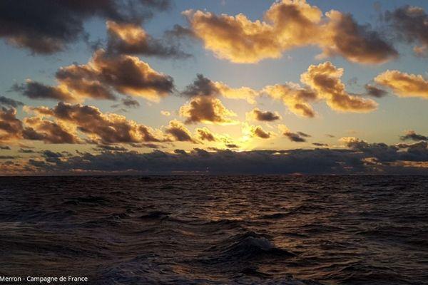 L'horizon vers la Guadeloupe