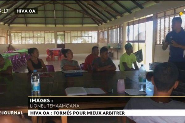La FTF organise un stage d'arbitrage à Hiva Oa