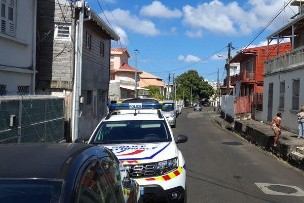 La police nationale quartier Tartanson à Fort-de-France