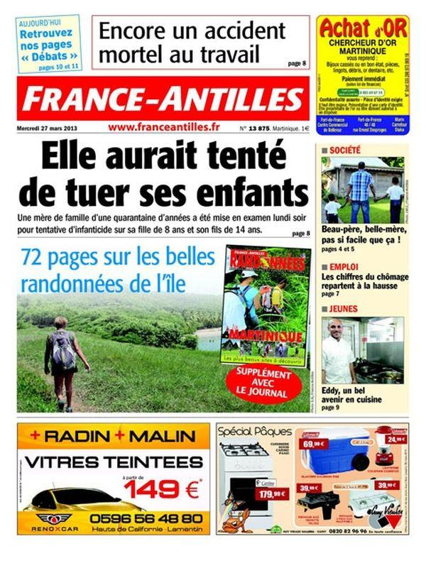 Une France Antilles Martinique 27 mars