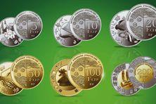 Les nouvelles pièces sans celles de 1 cfp et 2 cfp.