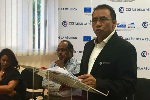 Ibrahim Patel, président de la CCI de La Réunion.