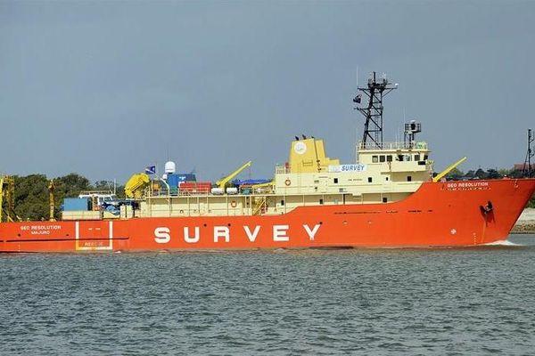 navire géo survey OPT