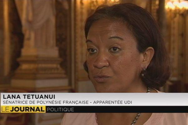 Sénat : Lana Tetuanui satisfaite après l'adoption de sa proposition de loi