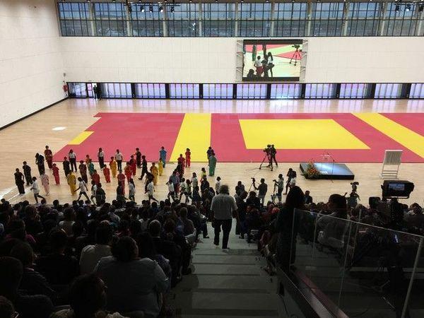 JIOI 2019 : gymnase du complexe multisport de côte d'Or Maurice 150719