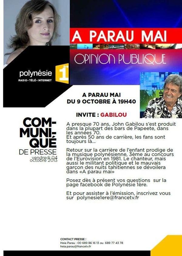 CP A Parau Mai Gabilou 09 10 2013
