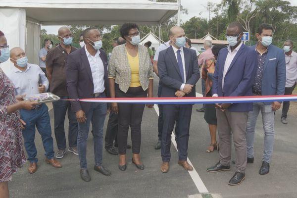 Inauguration de la 1ère déchetterie des Savanes à Iracoubo