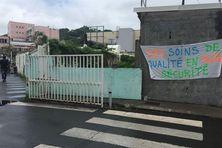 Grève au centre hospitalier de Trinité, en 2018. La sécurité demeure d'actualité pour les syndicats.