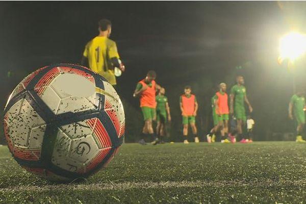 Entrainement de la sélection de football de la Guadeloupe, les Gwadaboys