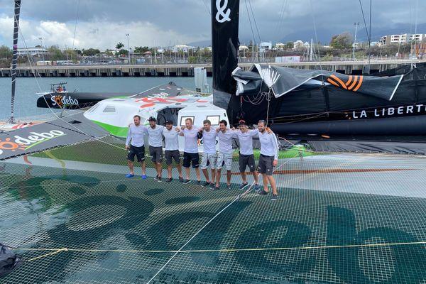 L'équipe de Thomas Coville au complet à La Réunion