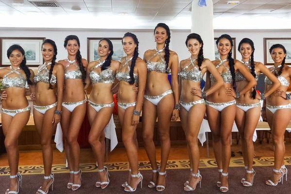 Les candidates à Miss Tahiti 2016 en maillots de bain