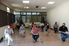 Conférence de presse commune d'élus MPC, Républicains calédoniens et Générations NC, le mardi 5 octobre.