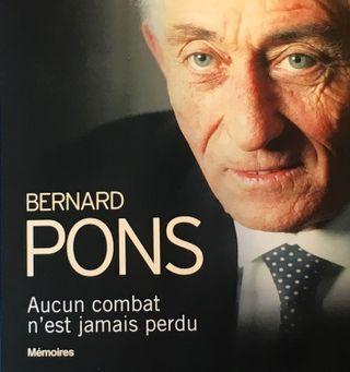 Couverture mémoires Bernard Pons