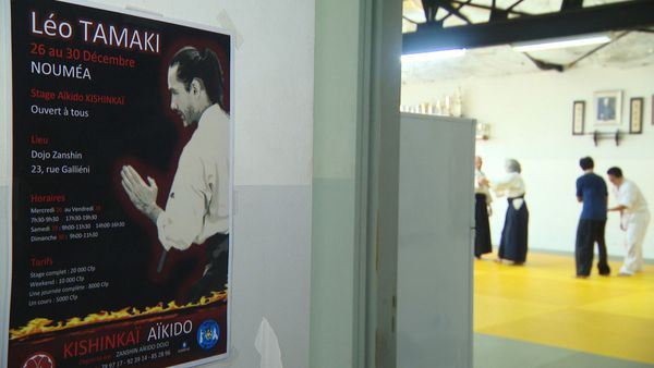 Stage avec Léo Tamaki, maître d'aïkido, décembre 2018