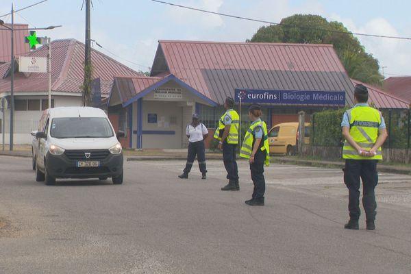 Contrôle gendarmerie à Matoury
