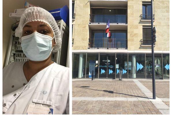 Sidevie Marimoutou, infirmière à l'hôpital Corentin Celton