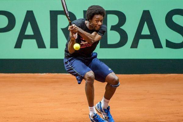Gaël Monfils à l'entraînement, lundi 17 novembre, à quelques jours de la Coupe Davis.