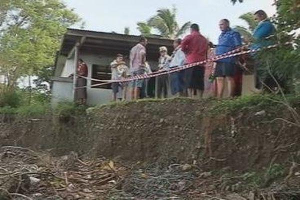 Conséquence de la montée des eaux à Futuna