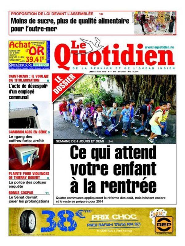 Une Quotidien 21 mars