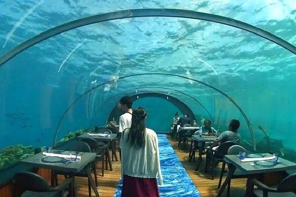 Undersea sur l'île d'Hurawalhi aux Maldives