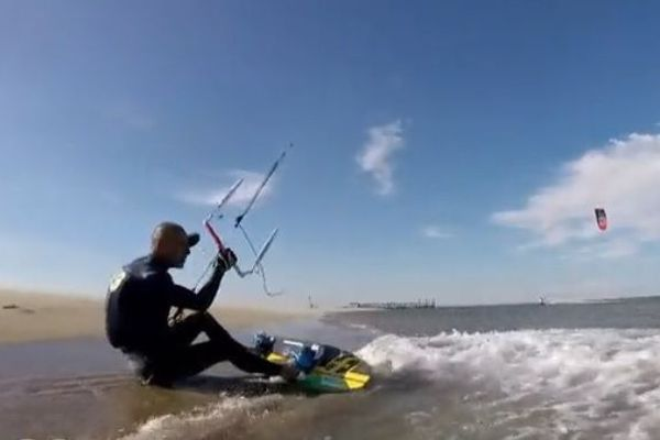 Chris Ballois, recordman du monde de vitesse en kitesurf