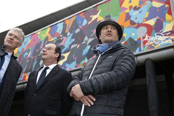 Hollande fresque cité des Outre-mer