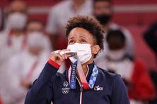 Amandine Buchard médaillée d'argent aux Jeux Olympiques de Tokyo.