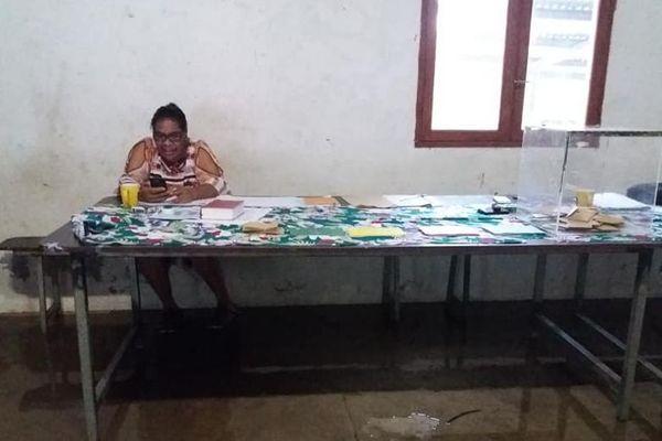 Municipales, bureau de vote inondé à Bas-Coulne, Hienghène.