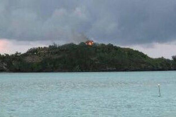 Incendie au Sofitel private island de Bora Bora