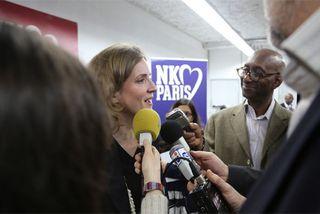 NKM en campagne électorale à Paris