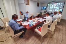 Plénière de rentrée du 29 septembre 2021 de l'Assemblée de la Collectivité Territoriale de Martinique en visioconférence.