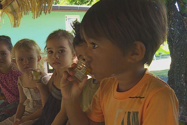potages bio dans les écoles à punaauia