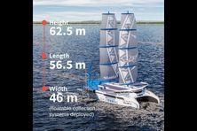 """Le bateau """"Le Manta"""" sera capable de collecter et traiter les déchets plastiques qui flottent sur les océans."""