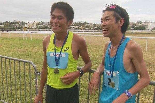 Kawauchi et Ushiyama terminent aux deux premières places du marathon hommes.
