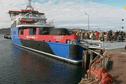À bord du Nordet pour sa première rotation sur Miquelon