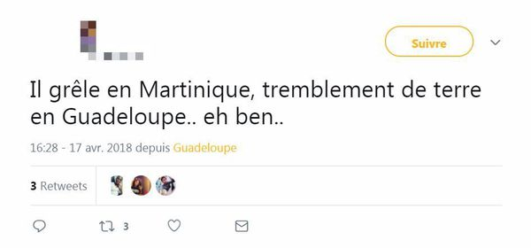 Tweet tremblement de terre 2