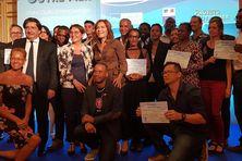 Les 19 lauréats du concours d'innovation des Outre-mer.