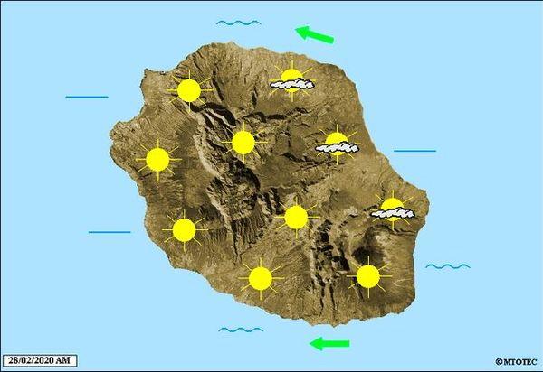 Carte météo 28 février 2020