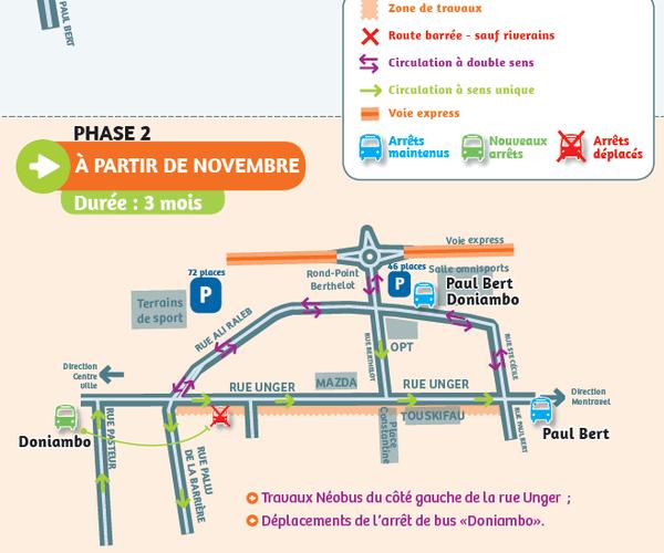 Plan de circulation Néobus à partir de novembre