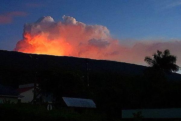 Eruption du piton de la Fournaise le 10 mars 2019 entre 4 et 5 heures du matin