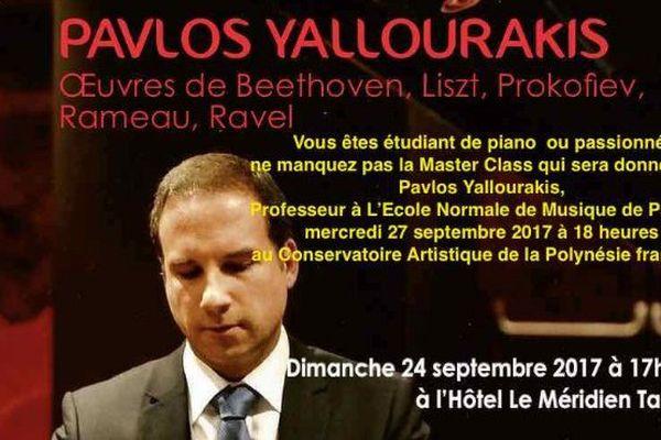 Pavlos Yallourakis donne deux concerts les 24 et 30 septembre