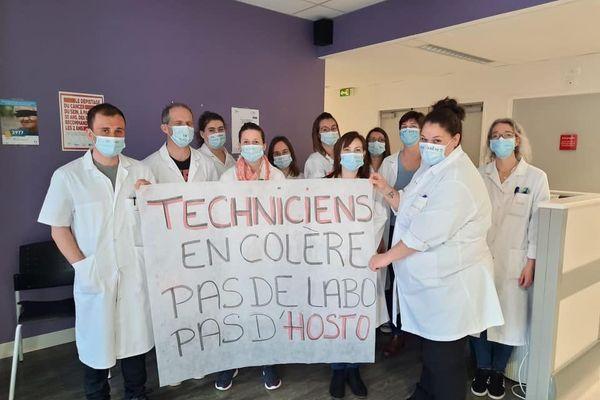 grève techniciens laboratoire CHFD
