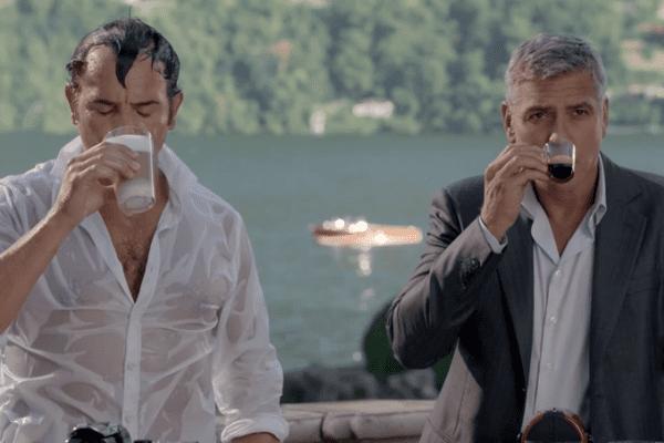Jean Dujardin Georges Clooney Nespresso tournage