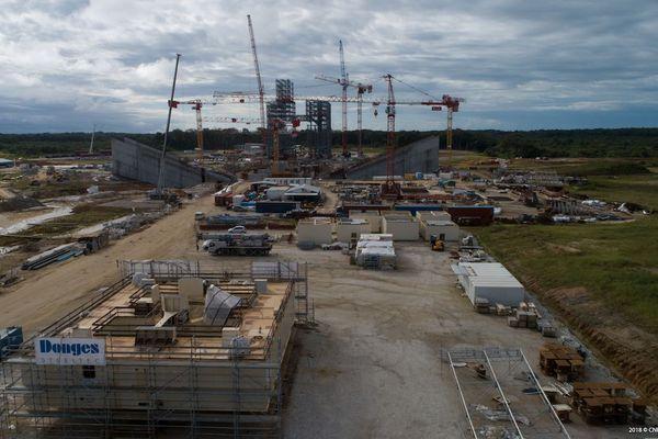 Le chantier de la table du pas de tir Ariane 6
