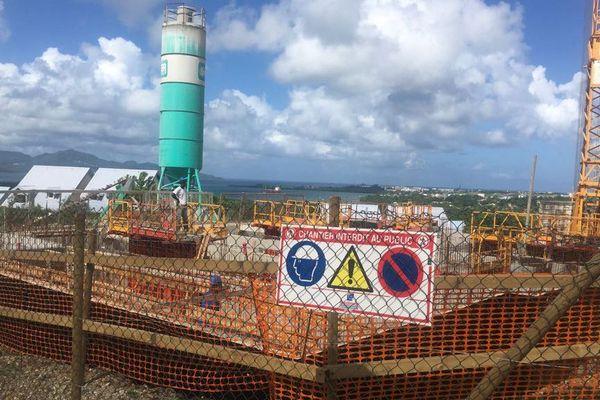 construction en cours au Lamentin