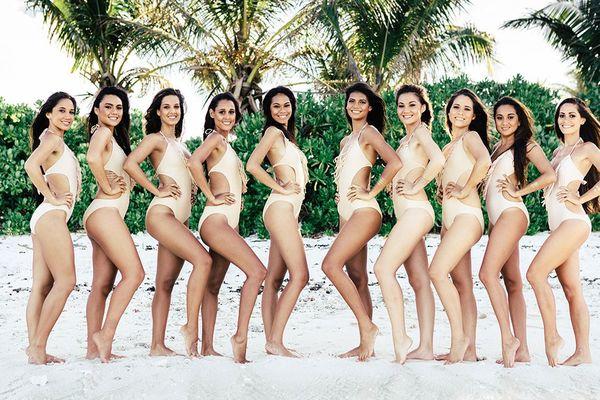 Les 10 candidates à l'élection Miss Tahiti 2015