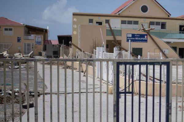 école détruite par Irma à Saint Martin